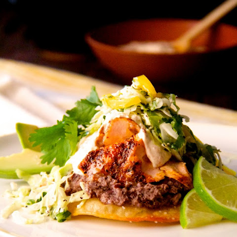 Salmon and Black Bean Tostadas with Cilantro - Lime Slaw and Chipotle ...