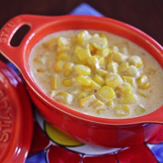 Cheesy Slow Cooker Creamed Corn