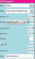 Screenshot of Shopping Memo Book Lite