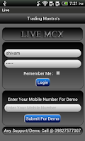 Screenshot of Live MCX Old