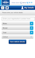 Screenshot of NRMA