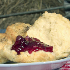 Black Pepper Biscuits with Orange-Blueberry Marmalade