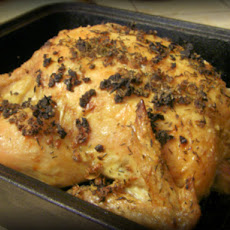 Simple Garlic Roasted Chicken
