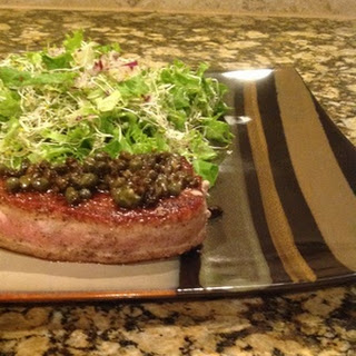 Pan Seared Tuna With Brown Butter Caper Sauce
