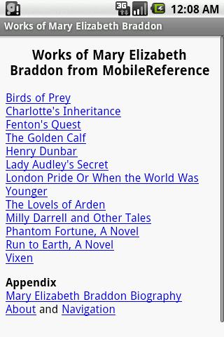 Works of Mary E. Braddon