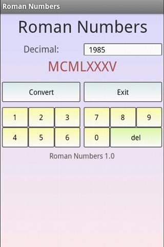 【免費工具App】羅馬數字-APP點子