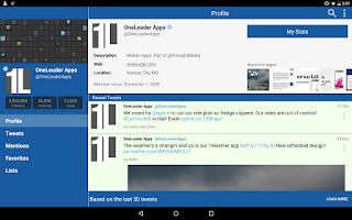 Screenshot of TweetCaster for Twitter
