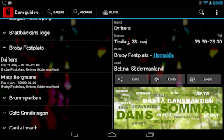 Screenshot of Dansguiden