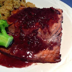 Salmon With Spiced Red Wine Sauce