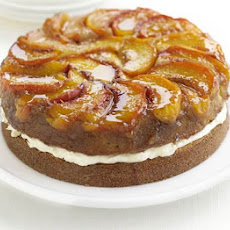 Upside-down Peaches & Cream Cake