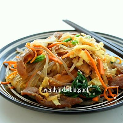Japchae @ Korean Glass Noodle with Mixed Vegetables