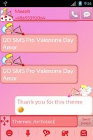 Screenshot of GO SMS Pro Valentine Day Amor