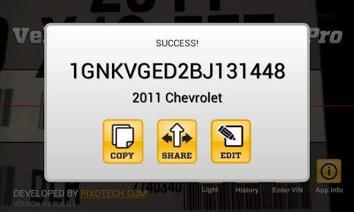 Vehicle Barcode Scanner Pro - screenshot