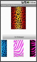 Screenshot of Animal Print Wallpapers Vol. 1