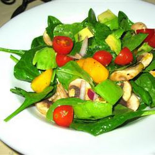 Mango, Avocado And Spinach Salad
