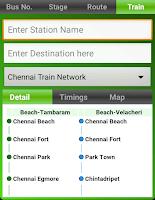 Screenshot of MTC bus route
