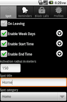Screenshot of Spoty Lite (Location reminder)