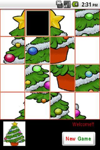 Christmas Tree -Sliding Puzzle