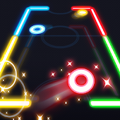 Download Glow Air Hockey APK on PC