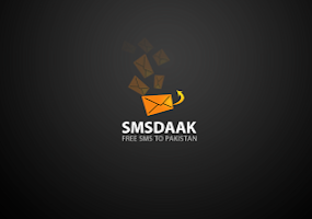 Screenshot of SMSDAAK. Free SMS to Pakistan.