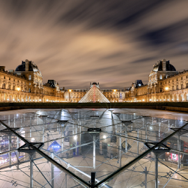 Louvre Museum by Sebastien Gaborit - Buildings & Architecture Architectural Detail ( paris, louvre, night, france, museum )