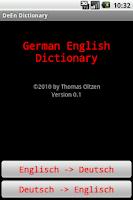 Screenshot of DeEn Dictionary