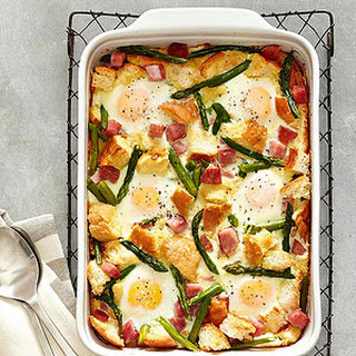 Ham-Asparagus and Cheese Strata