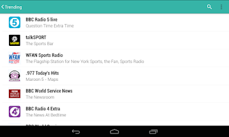 Screenshot of TuneIn Radio Pro
