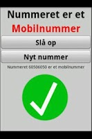 Screenshot of Nummer Tjek