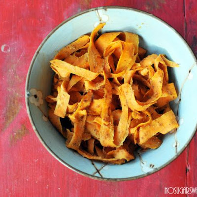 Honey Almond Sweet Potato Fettucini