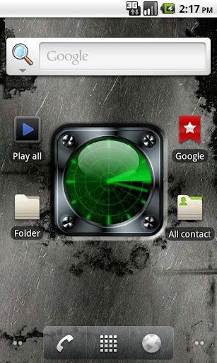 Radar Clock Live Wallpaper