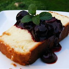 Sour Cream Lemon Pound Cake with Cherry Compote
