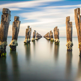 New Year Inspiration by Nhan Le - Landscapes Waterscapes ( waterscape, sunsets, clifton springs, landscape, inspirational )