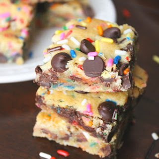 Gluten Free Funfetti Chocolate Chip Cookie Bars