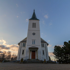 Sortland church by Benny Høynes - Buildings & Architecture Architectural Detail ( clouds, building, sky, church, norway )