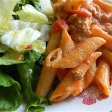 Creamy Pork Mince And Tomato Penne
