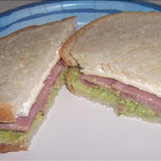 Avocado Ham Sandwiches