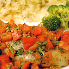 Balsamic Baked Bruschetta Chicken