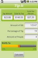 Screenshot of Tip-It