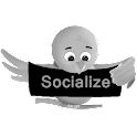 Black Socialize for Twitter icon