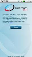 Screenshot of Optimum WiFi Register