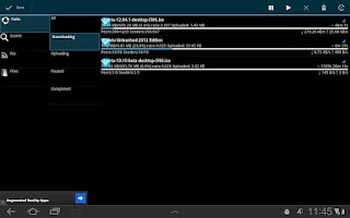Screenshot of aDownloader - torrent download