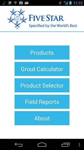 Five Star Grout Calculator