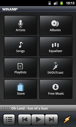 winamp for android screenshot