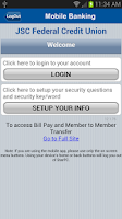 Screenshot of JSC FCU Mobile