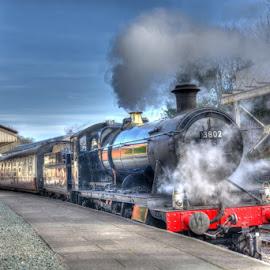 BR 3802 at Llangollen Station by David Garnett - Transportation Trains ( llangollen station, betton grange, llangollen railway, steam steel & stars iv, br 3802,  )