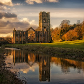 Path to the abbey by Phil Robson - Buildings & Architecture Public & Historical ( church, richmond, yorkshire, ripon, fountains abbey )