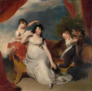 RIJKS: Thomas Lawrence: Maria Mathilda Bingham with Two of her Children 1818