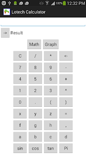Lotech Calculator - screenshot