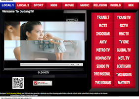 Screenshot of GudangTV Android